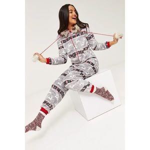 25e414ba52 Ardene Intimates   Sleepwear - ❄️NEW Winter Fuzzy Fair Isle Onesie Jumpsuit